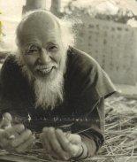 Masanobu Fukuoka laughing