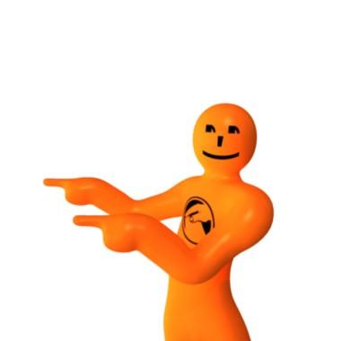 orange voting mascot